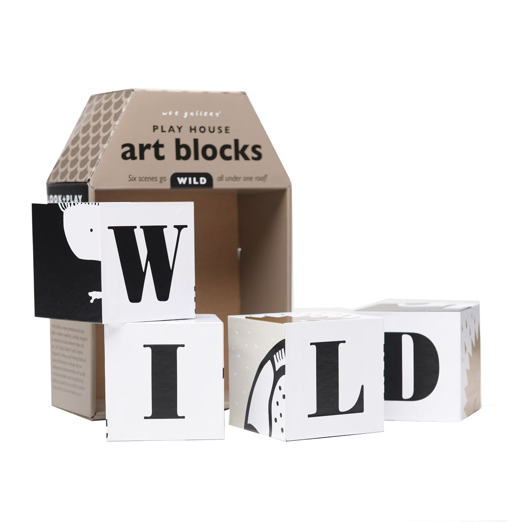 Wee Gallery Play House Art Blocks Wild - UrbanBaby shop