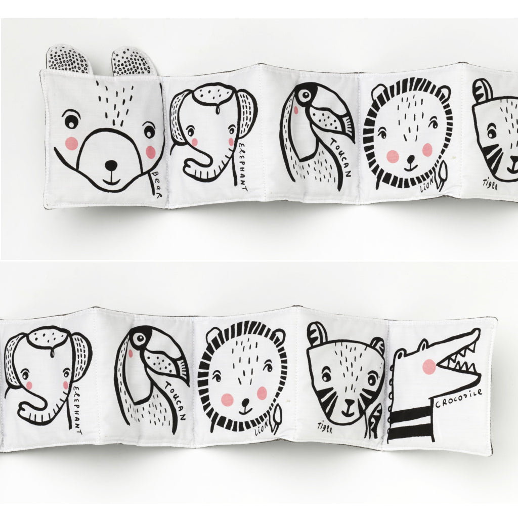 Wee Gallery Cloth Book Friendly Faces in the Wild - UrbanBaby shop