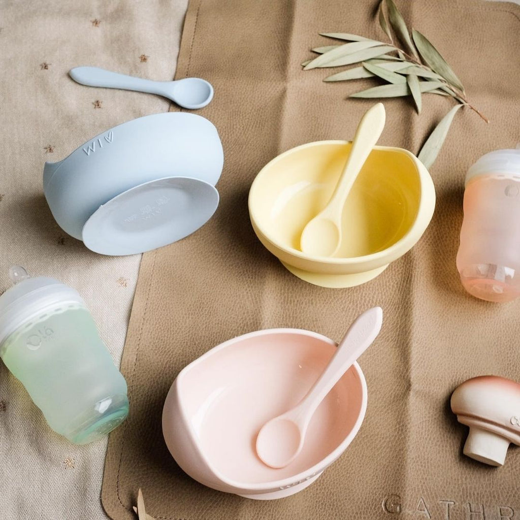 Wild Indiana Silicone Bowl and Spoon - Pink - UrbanBaby shop