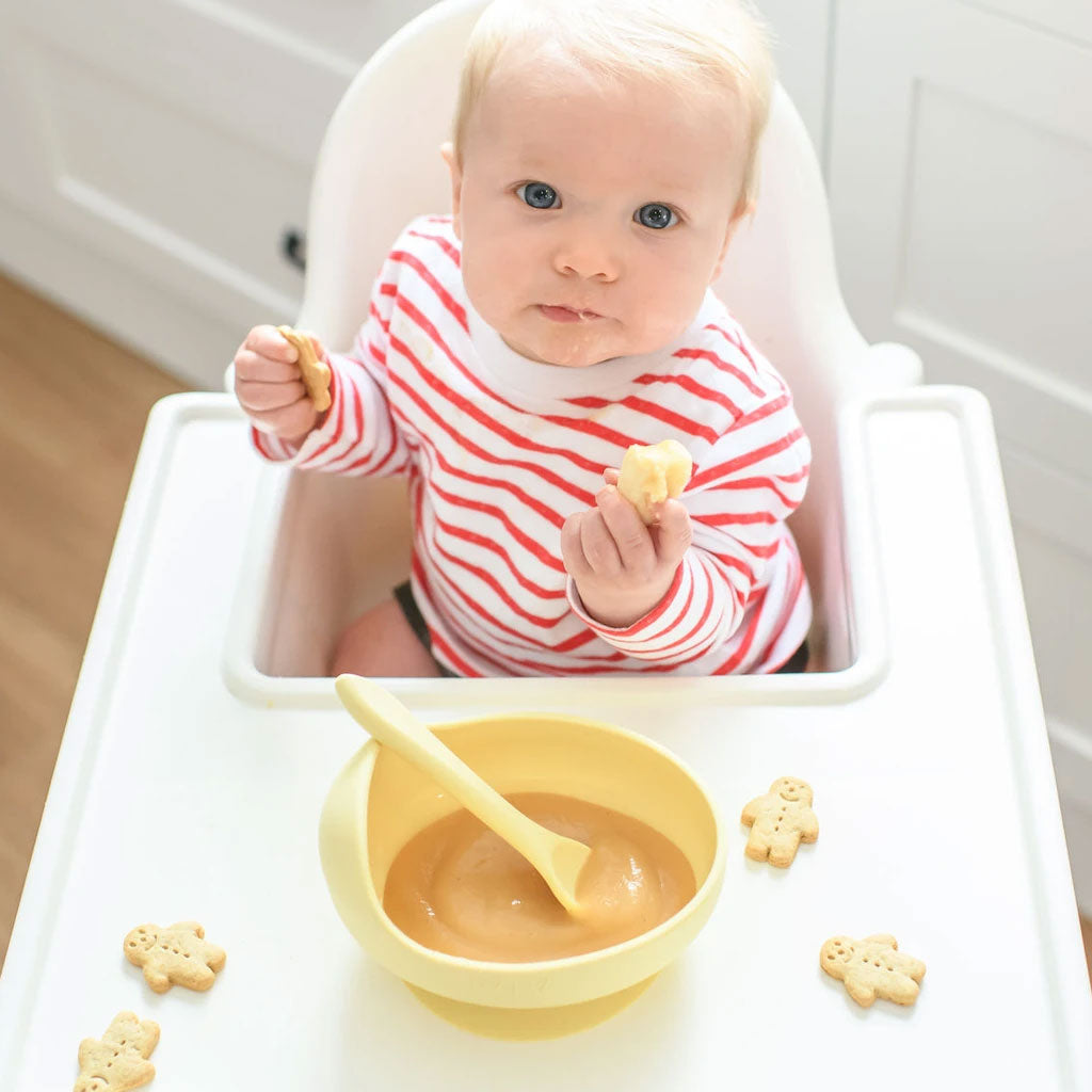 Wild Indiana Silicone Bowl and Spoon - Yellow - UrbanBaby shop