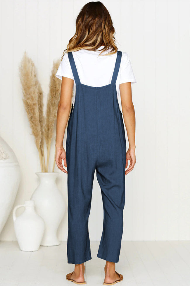 Voyagal Simple Life Solid Jumpsuits