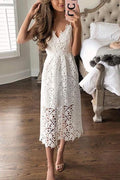 Voyagal Sissi Sling Lace Party Dress