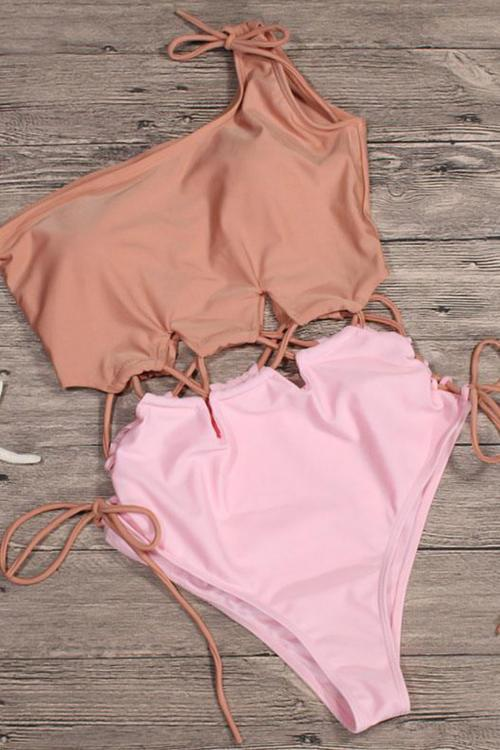 Voyagal You And Me Splicing One-piece Swimsuits