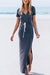 Voyagal Gray Slim Fit Bodycon Dress