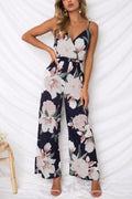 Voyagal Tiaana Printed Black Jumpsuits