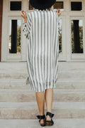Voyagal Striped Oversize Shirt Dress