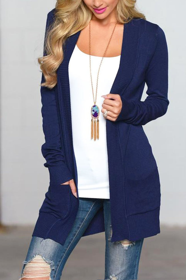 Voyagal Long Sleeve Lightweight Mid Length Cardigan Sweater