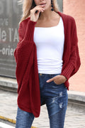 Voyagal Open Collar Oversize Casual Solid Color Cardigan