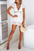 Voyagal Switching Keys White Romper