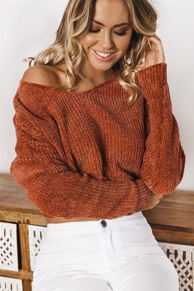 Voyagal Zone Out Cropped Jumper