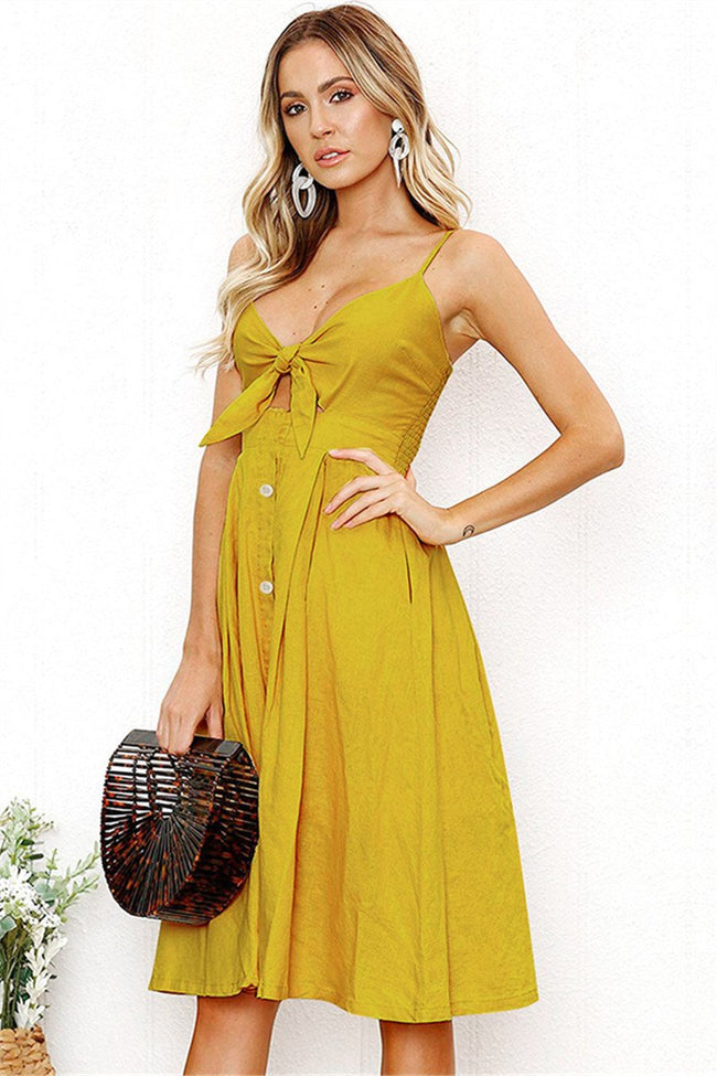 Voyagal Bohemian Hollowed-out Midi Dress