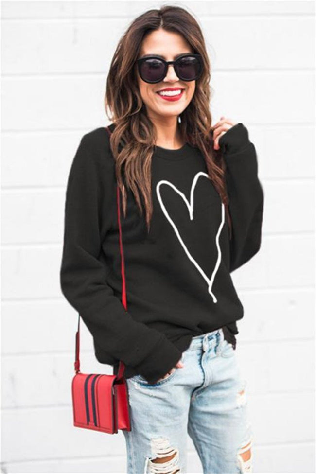 Voyagal Heart Pattern Hoodies