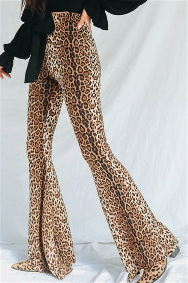 Voyagal Dark Eyes Leopard Bells Pants