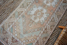 Load image into Gallery viewer, Sold 8/20*2'10 x 9'4 Vintage Turkish Runner Muted Blush Beige, Green, Cream and Brown
