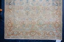 Load image into Gallery viewer, Sold 6/5*8'11 x 11'6 Vintage Distressed Carpet Olive Green, Brown 60's
