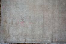 Load image into Gallery viewer, 4'6 x 7'9 Oushak Rug Muted Gray, Pink and Olive Vintage Carpet