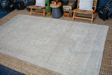 Load image into Gallery viewer, 6'5 x 11'2 Taspinar Rug Muted Gray and Beige Vintage Carpet