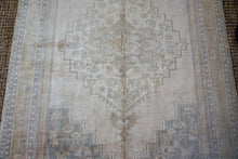 Load image into Gallery viewer, 5'9 x 9' Taspinar Rug Muted Sage Green and Beige Vintage Carpet