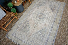 Load image into Gallery viewer, 5' x 8'6 Taspinar Rug Muted Purple, Green and Beige Vintage Carpet