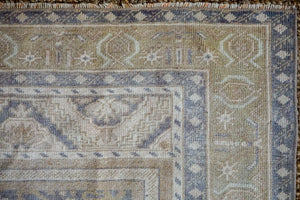 5' x 8'6 Taspinar Rug Muted Purple, Green and Beige Vintage Carpet