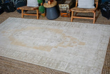 Load image into Gallery viewer, 5'4 x 11' Taspinar Rug Creamy Beige, Gold and Sage Green Vintage Carpet