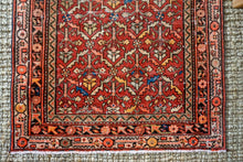Load image into Gallery viewer, 3' x 12'10 Vintage Malayer Runner Red, Blue & Brown