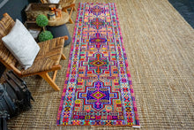 Load image into Gallery viewer, 2'9 x 10'9 Vintage Herki Runner Bright and Colorful