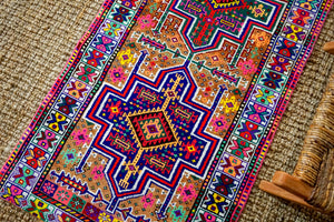 2'9 x 10'9 Vintage Herki Runner Bright and Colorful