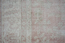 Load image into Gallery viewer, 8'10 x 12'7 Oushak Rug Coral or Salmon, Cream and Taupe Carpet