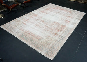 7'10 x 11'5 Oushak Rug Copper and Forest Green