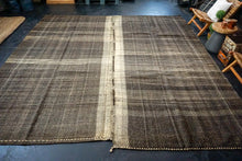 Load image into Gallery viewer, 12' x 11'6 Brown Tweed Vintage Flatweave Kilim