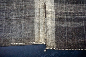 12' x 11'6 Brown Tweed Vintage Flatweave Kilim
