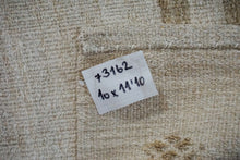 Load image into Gallery viewer, 10' x 11'10 Vintage Organic Hemp Rug Off White Flatweave MCM Kilim