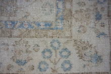 Load image into Gallery viewer, 6'7 x 9'8 Vintage Oushak Rug Muted Cornflower Blue and Beige Carpet