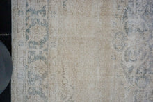 Load image into Gallery viewer, 7' x 10'6 Vintage Oushak Seafoam and Sage Green and Beige