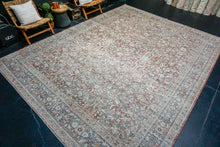 Load image into Gallery viewer, Sold 7/7*4'3 x 7'9 Vintage Oushak Rug Mauve, Olive & Gray