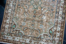 Load image into Gallery viewer, 9'10 x 13'3 Classic Vintage Kashan Rug Beige + Indigo 60's Carpet