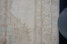 Load image into Gallery viewer, Sold 10/12*4' x 9'2 Vintage Oushak Rug Pink-Beige, Brown + Blue Handmade Carpet