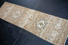 Load image into Gallery viewer, 1'10 x 6'5 Classic Vintage Heriz Runner Muted Brown, Beige and Blue