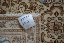 Load image into Gallery viewer, Sold 11/12*2'8 x 13' Vintage Hamadan Runner Cream, Brown and Sky Blue