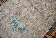 Load image into Gallery viewer, 3' x 10'10 Vintage Heriz Runner Muted Beige + Blue