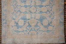 Load image into Gallery viewer, 3'2 x 11'5 Vintage Malayer Runner Muted Warm Beige + Blue