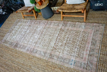 Load image into Gallery viewer, 3'7 x 9'6 Vintage Malayer Runner Muted Purple, Pink and Olive