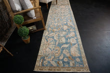 "Load image into Gallery viewer, 2'8"" x 11'5"" Vintage Malayer Runner Blue, Beige & Brown"
