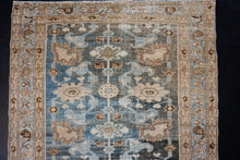 Load image into Gallery viewer, 3'5 x 12'10 Persian Malayer Runner Blue, Brown and Beige