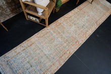 Load image into Gallery viewer, 3' x 13' Persian Malayer Runner Blue, Terra Cotta & Brown