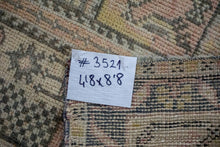Load image into Gallery viewer, Sold 10/27*4'8 x 8'8 Vintage Oushak Carpet Muted Pink, Gray and Yellow Gallery Rug