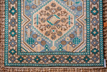 Load image into Gallery viewer, 2'8 x 9'5 Vintage Turkish Milas Runner Turquoise, Teal and Sky Blue 70's
