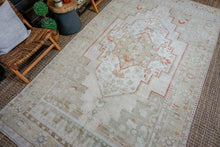 Load image into Gallery viewer, 6'2 x 11'2 Turkish Taspinar Rug Muted Olive + Sage Green Vintage Carpet