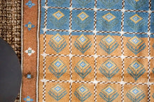 Load image into Gallery viewer, 3'8 x 5'9 Mid Century Turkish Anatolian Rug Blue and Brown Vintage 60's
